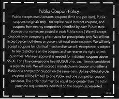 Did Publix change their coupon policy?  No.. but here's the deal…