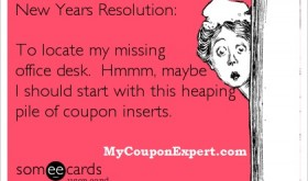Time to purge expired coupon inserts!  Here's how its done!!