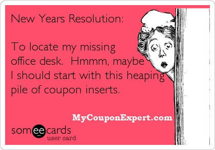 Time to clean out your Coupon Insert Stash! Here's how its done!!