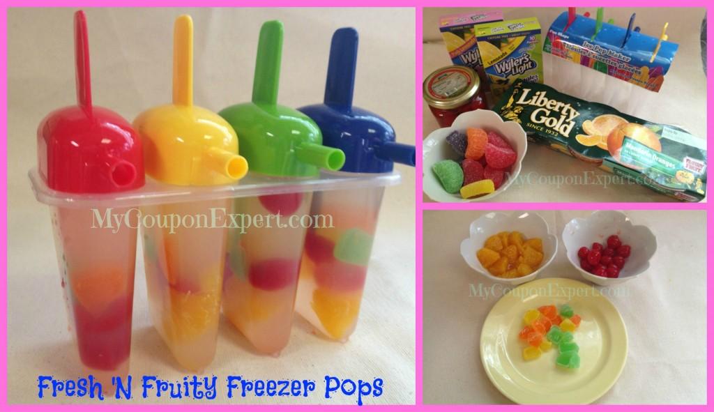 Fresh 'N Fruity Freezer Pops!
