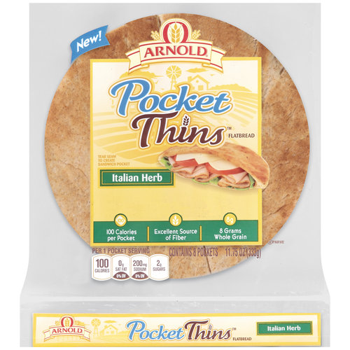 Arnold Sandwich Thins or Pocket Thins Flatbread, 8ct, BOGO - $3.89