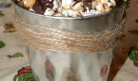 Saturday Snack Time!!   Carmel S'mores Popcorn!