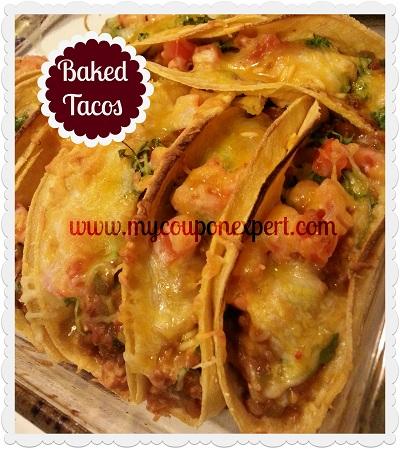 Easy Baked Taco's Recipe!!