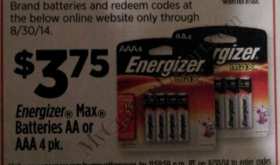 FREE GAS and great deal on batteries!  WOW!