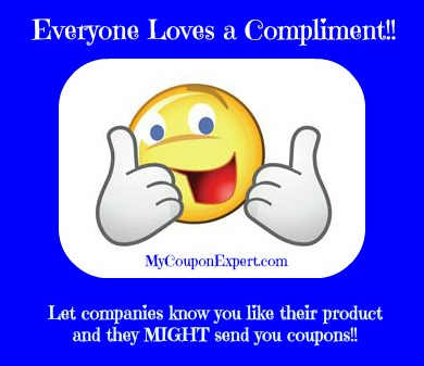 Contacting companies for coupons!!  Nice BIG list!!