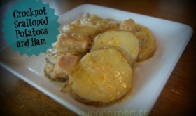 Thrifty Recipe- Crockpot Scalloped Potatoes and Ham