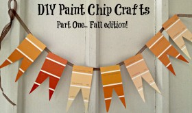 Frugal Fall DIY Projects:  Paint Chip Crafts Part One