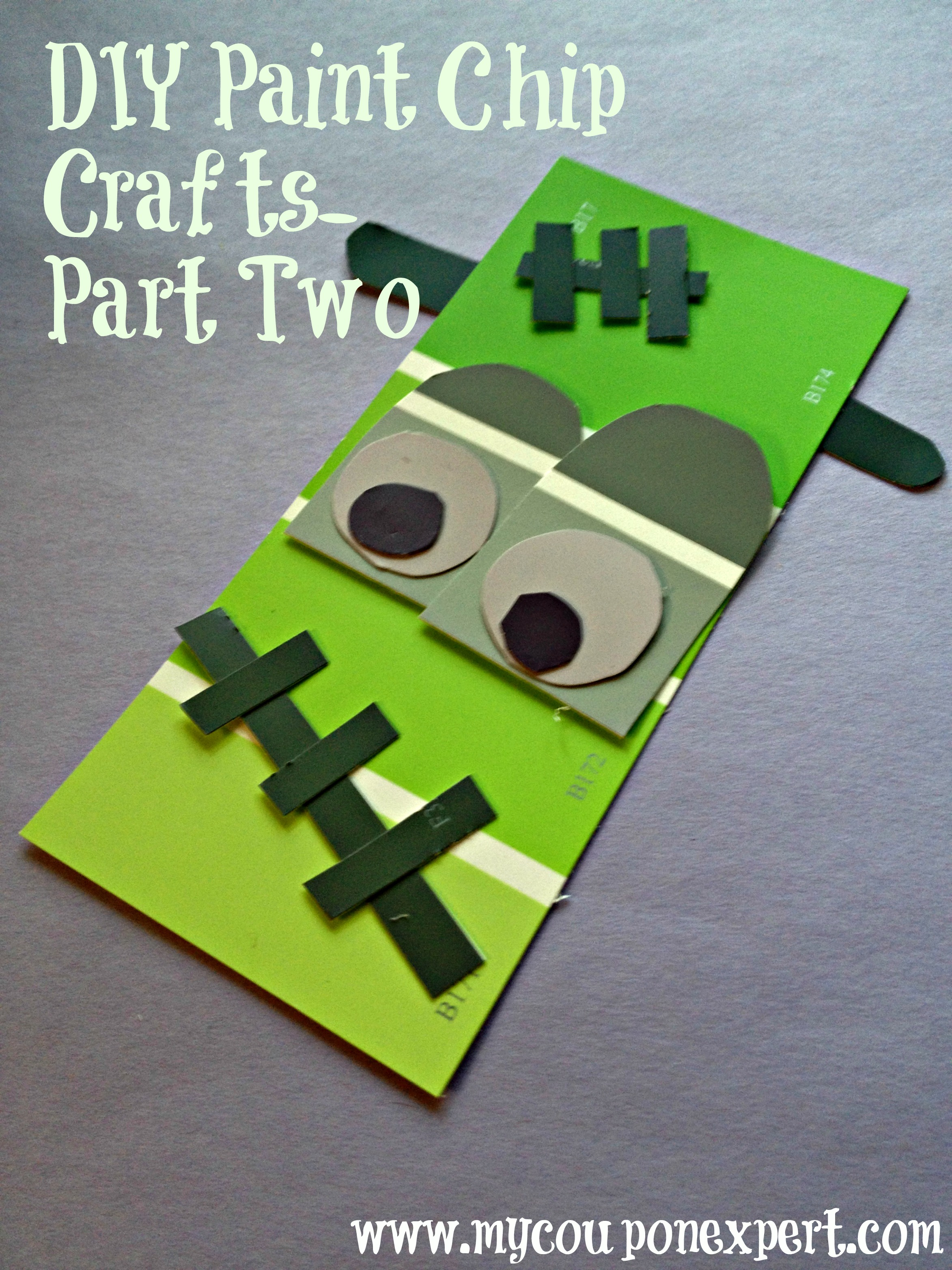Frugal Fall Diy Projects Paint Chip Crafts Part Two