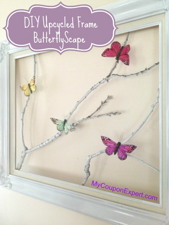 Thrifty Craft Idea!! Super cute Butterfly Frame!