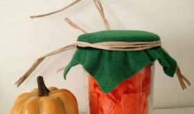 Easy Friday Upcycle: Repurposed Pumpkin Treat Jar