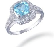Blue Topaz Sterling Silver Ring Only $19.99 – 86% Savings