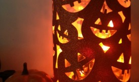 Halloween Decor on a Dime: DIY Spooky Faces Lantern