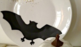 Darling Dollar Store DIY: Hauntingly Beautiful Bat Plate