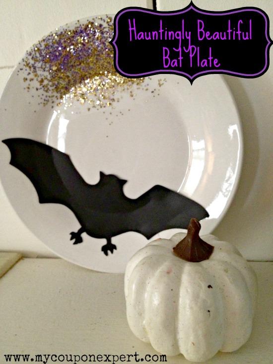 Darling Dollar Store Diy Hauntingly Beautiful Bat Plate