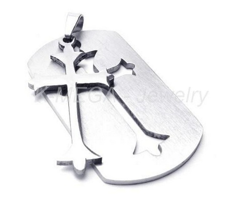 Mens cross pendant and chain 698 shipped mens cross pendant mozeypictures Images