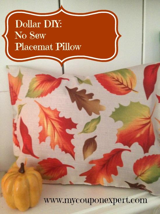 Fall Dollar Tree Decor Diy No Sew Placemat Pillow