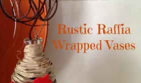 Frugal Fall DIY: Rustic Raffia Wrapped Vases