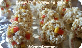 Candy Corn Popcorn Balls!!   Perfect for Halloween!