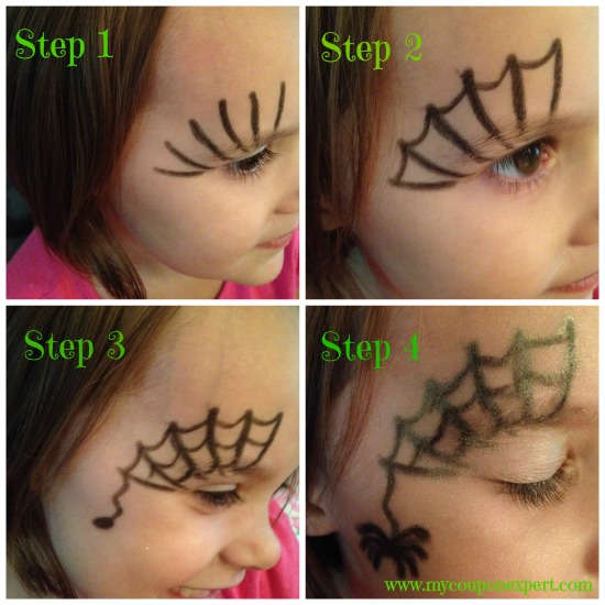 Face Painting Friday DIY Spider Web Halloween