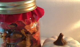 Dollar Tree DIY: Autumn Leaf Luminary Jar Gift