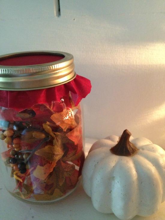 Dollar Tree DIY: Autumn Leaf Luminary Jar Gift