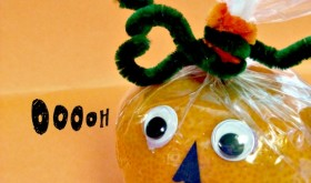 Friday Crafting Fun: Cute Clementine Pumpkin Snack