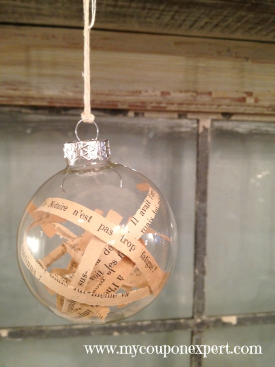 Homemade Holiday Gifts: DIY Vintage Book Ornament
