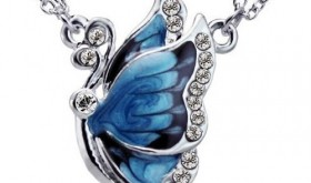 Faux Diamond Studded Butterfly Necklace Only $2.59 Shipped