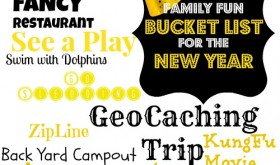 Make a Family Fun Bucket List for the New Year