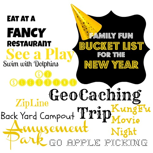 Family Fun Bucket List