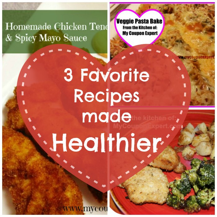 3 Recipes made healthier