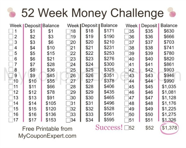Take The 52 Week Money Challenge It S Easier Than You Think