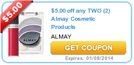 image relating to Almay Coupon Printable referred to as $5.00 Off 2 Almay Beauty Merchandise Coupon ·