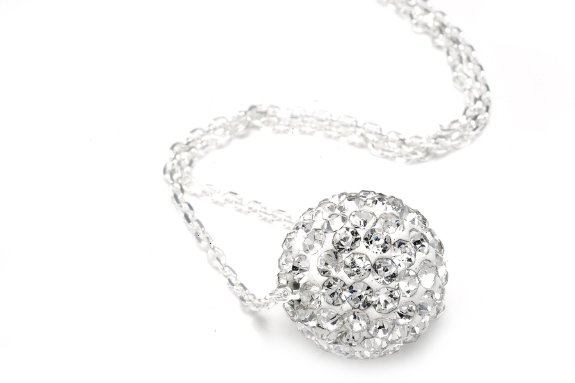 Crystals Ball Pendant Necklace Only $6.96 Shipped