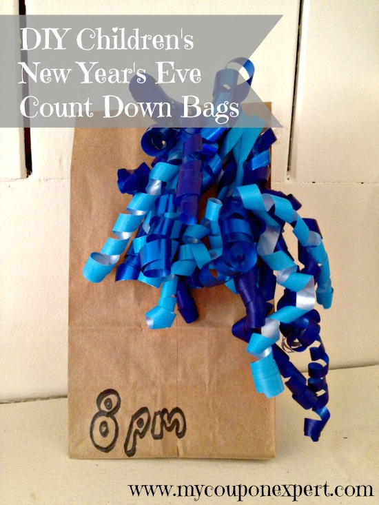 New Year's Eve Crafts for Kids: DIY Count Down Treat Bags