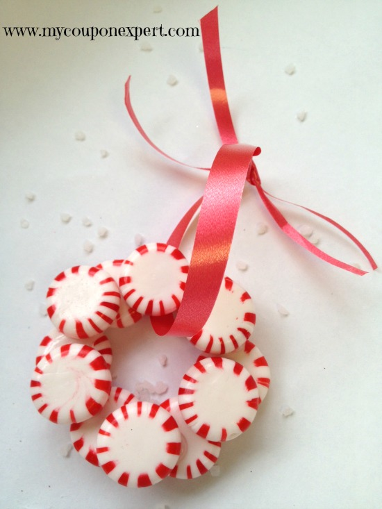 Festive Fun: DIY Peppermint Candy Wreath Ornament
