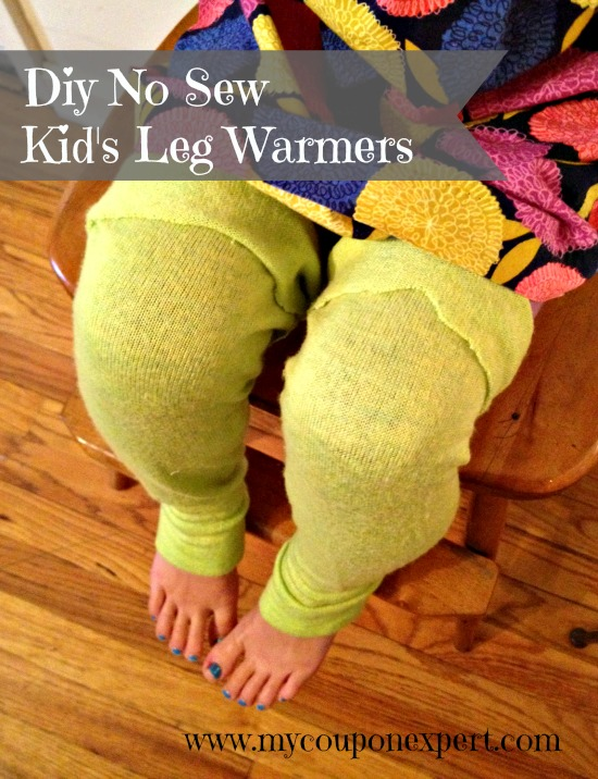 Old Sweater Upcycle Diy No Sew Kid S Leg Warmers