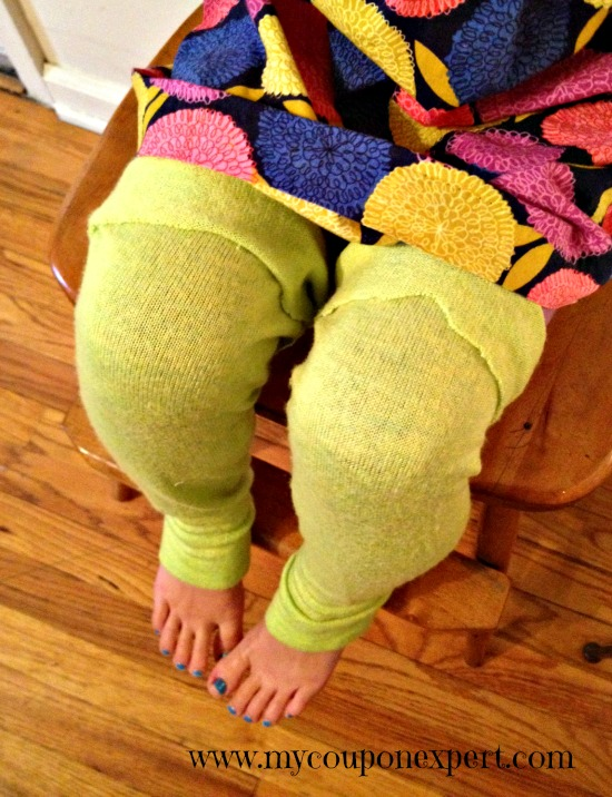 Old Sweater Upcycle: DIY No Sew Kid's Leg Warmers
