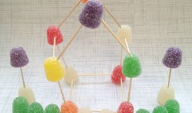 Frugal Holdiay Fun: DIY Gumdrop Village for Kids