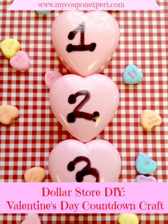 Dollar Store DIY: Valentine's Day Countdown Craft