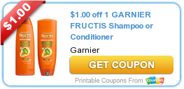 graphic regarding Garnier Printable Coupon named Clean Printable Coupon: $1.00 off 1 GARNIER FRUCTIS Shampoo or
