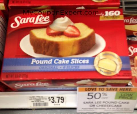 Sara Lee Pound Cake Coupon