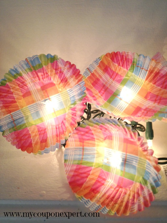 Think Spring: DIY Flower Twinkle Lights