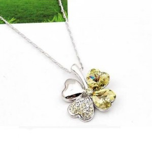 crystal-rhinestone-four-leaf-clover-necklace