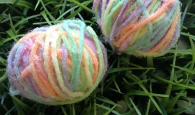 Spring Family Fun: Yarn Eggs Kid's Craft