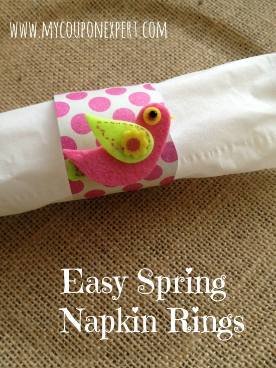 Frugal Friday Fun: Easy Easter Napkin Rings