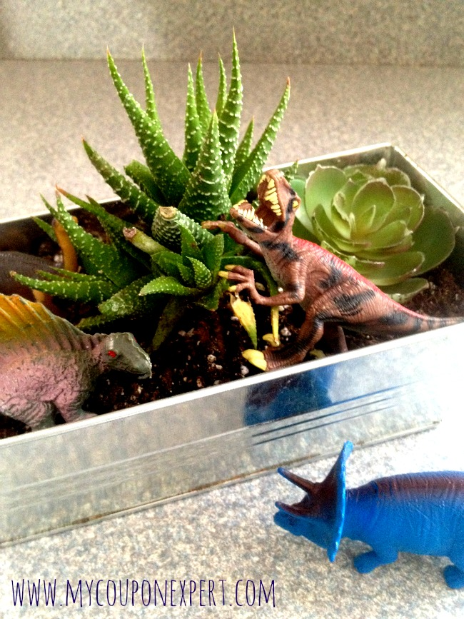 Weekend Family Fun: DIY Dinosaur Garden