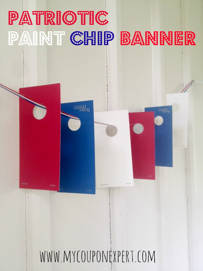 Free Crafts: Patriotic Paint Chip Banner