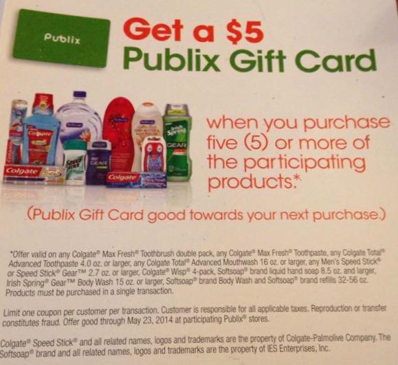 publix 5 gift card