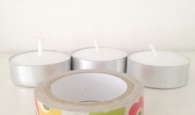 Thrifty Tuesday: Washi Tape Votives